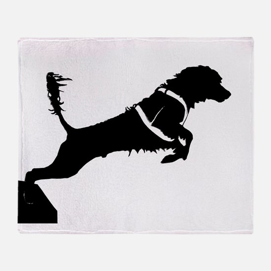Portuguese Water Dog Jump Throw Blanket