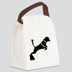 Portuguese Water Dog Jump Canvas Lunch Bag