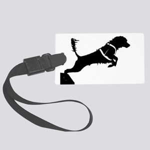 Portuguese Water Dog Jump Large Luggage Tag