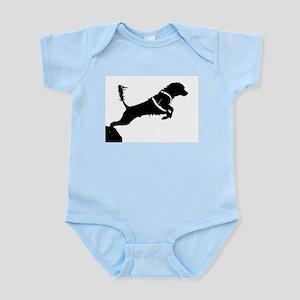 Portuguese Water Dog Jump Infant Bodysuit