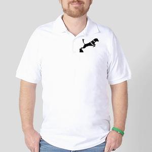 Portuguese Water Dog Jump Golf Shirt