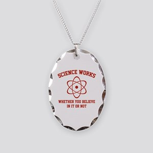 Science Works Necklace Oval Charm