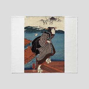 Young Woman At Sanbashi - Kuniyoshi Utagawa - 1844