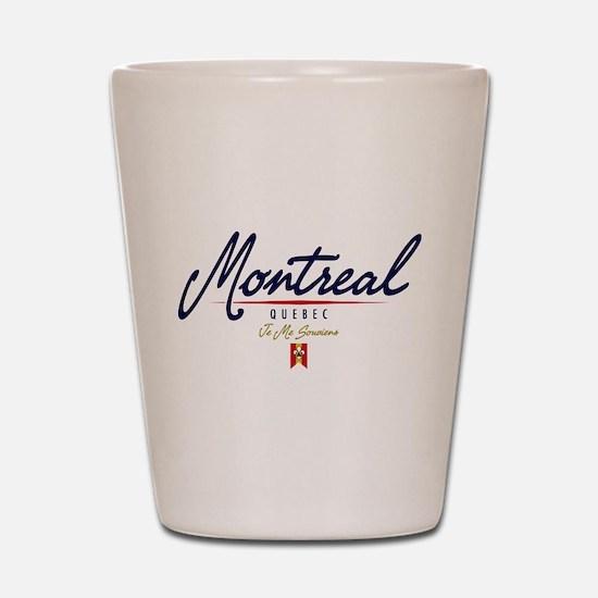 Montreal Script Shot Glass