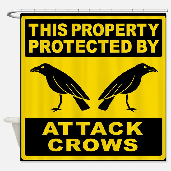 Protected By Attack Crows Shower Curtain