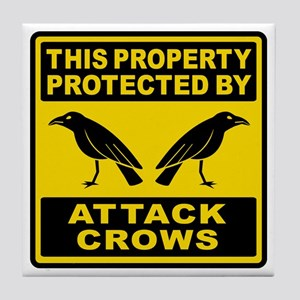 Protected By Attack Crows Tile Coaster