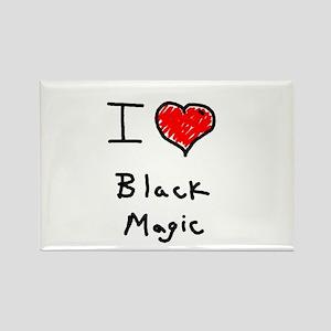 i love black magic Rectangle Magnet
