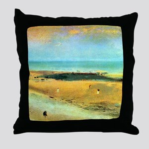 Edgar Degas Beach At Low Tide Throw Pillow