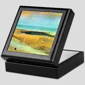 Edgar Degas Beach At Low Tide Keepsake Box