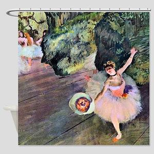 Edgar Degas Dancer With Flowers Shower Curtain