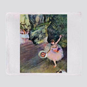 Edgar Degas Dancer With Flowers Throw Blanket