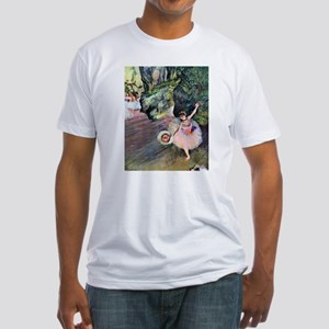 Edgar Degas Dancer With Flowers Fitted T-Shirt