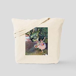Edgar Degas Dancer With Flowers Tote Bag