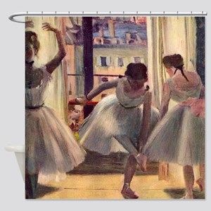 Edgar Degas Three Dancers Shower Curtain