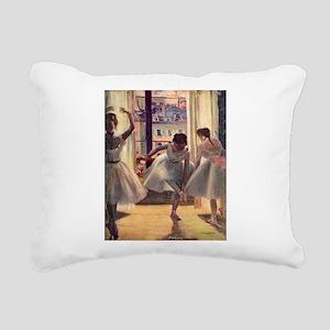 Edgar Degas Three Dancers Rectangular Canvas Pillo