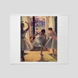 Edgar Degas Three Dancers Throw Blanket