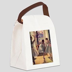Edgar Degas Three Dancers Canvas Lunch Bag