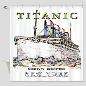 Titanic Neon (white) Shower Curtain