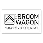 Broom Wagon BLK Sticker (Rectangle 50 pk)