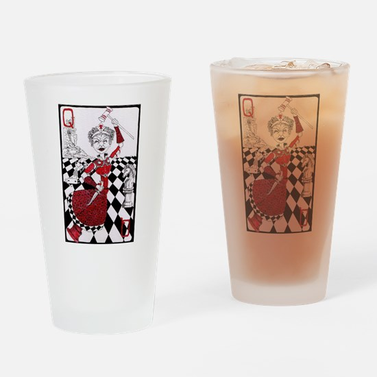 The Red Queen Drinking Glass