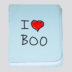 i love boo baby blanket