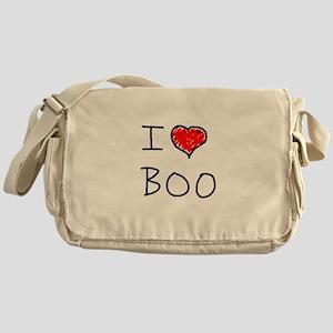 i love boo Messenger Bag