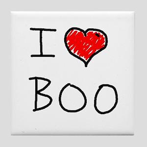i love boo Tile Coaster