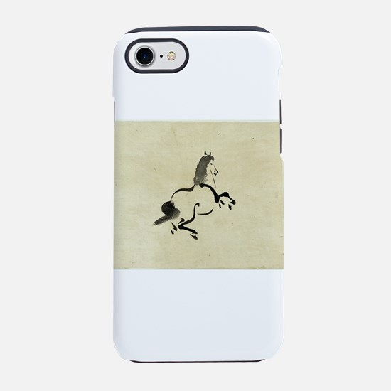 Horse - anon - 1870 - drawing iPhone 7 Tough Case
