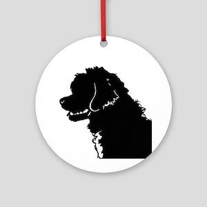 Portuguese Water Dog Head Ornament (Round)