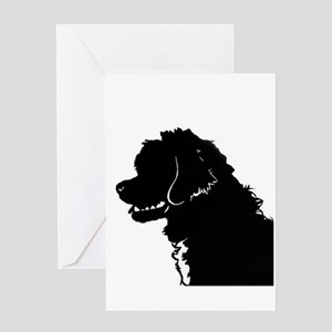 Portuguese Water Dog Head Greeting Card