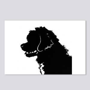 Portuguese Water Dog Head Postcards (Package of 8)