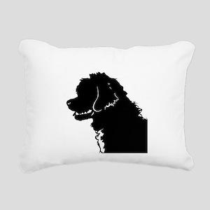 Portuguese Water Dog Head Rectangular Canvas Pillo
