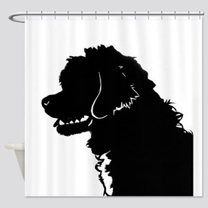 Portuguese Water Dog Head Shower Curtain