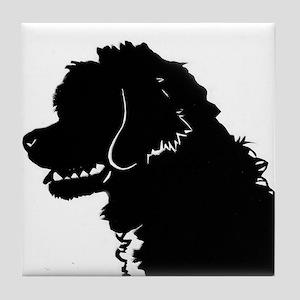 Portuguese Water Dog Head Tile Coaster