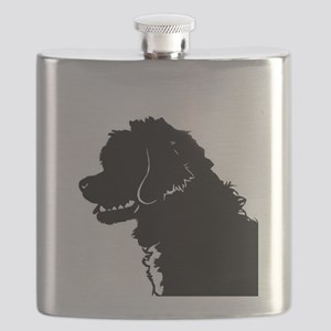 Portuguese Water Dog Head Flask