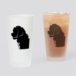 Portuguese Water Dog Head Drinking Glass