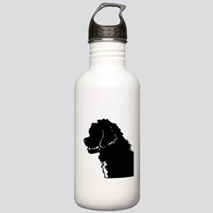 Portuguese Water Dog Head Stainless Water Bottle 1