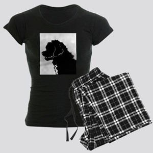 Portuguese Water Dog Head Women's Dark Pajamas