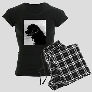 Portuguese Water Dog Head Women's Dark Pajamas