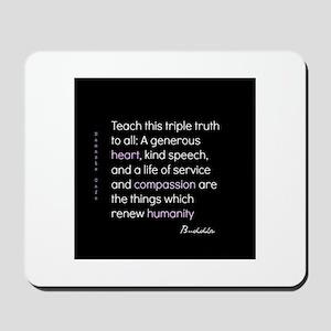 Triple Truth-Buddha Mousepad