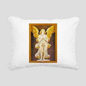 Golden Angel Rectangular Canvas Pillow