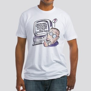 """""""Computer Evolution"""" Fitted T-Shirt"""