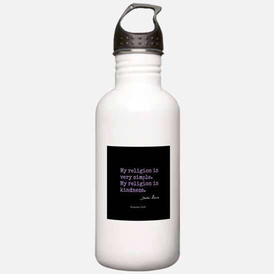 My Religion is Kindness Water Bottle