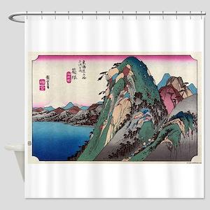 Hakone - Hiroshige Ando - 1833 - woodcut Shower Cu