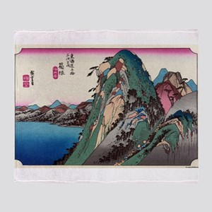 Hakone - Hiroshige Ando - 1833 - woodcut Throw Bla