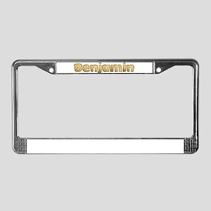 Benjamin Toasted License Plate Frame