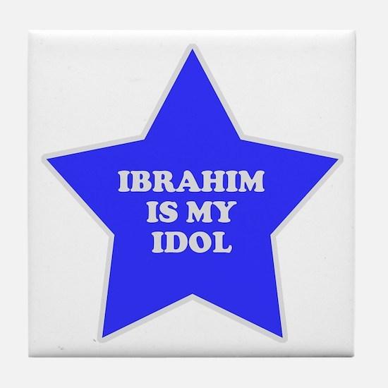 Ibrahim Is My Idol Tile Coaster