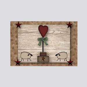 Heart Topiary Rectangle Magnet