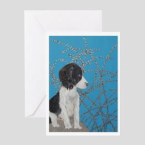 """Springer Spaniel"" Greeting Card"
