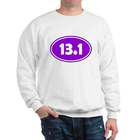 13.1 Oval - Purple Sweatshirt